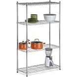 Honey Can Do 4-Tier 200 lb. Capacity Shelving Unit, Chrome