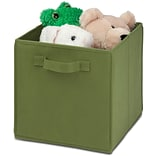 Honey Can Do 4 Pack Non-Woven Foldable Cube, Green