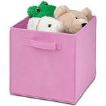 Honey Can Do 4 Pack Non-Woven Foldable Cube, Pink