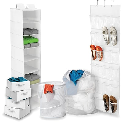 Honey Can Do Back To School Home Organization Kit, White