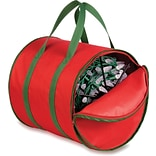 Honey Can Do Christmas Light Storage Bag, red/green trim (SFT-02104)