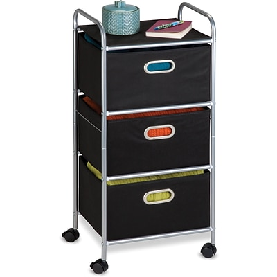 Honey Can Do 3 Drawer Fabric Storage Cart