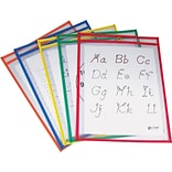 9 x 12 Reusable Dry Erase Pockets Prime Colors, 25/pack