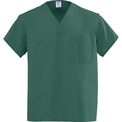 Angelstat® Unisex 2-pocket A-Stat Reversible Vneck Scrub Top,Hunter Green,AngelicaColor-coding,Small