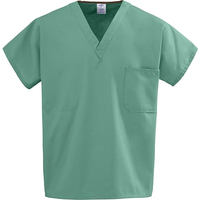 Medline Unisex One-pocket Reversible Tops, Jade, Medium