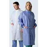 ASEP® A/S Unisex Full Length Barrier Lab Coats, Ceil Blue, Small