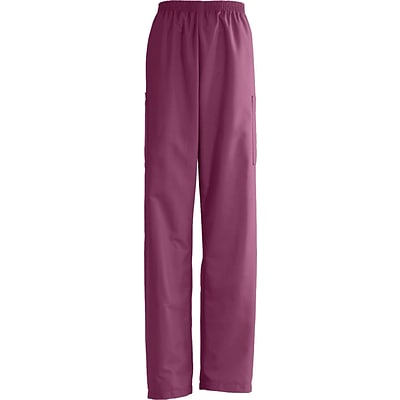 AngelStat® Unisex Elastic Cargo Scrub Pants, Raspberry, XS, Medium Length
