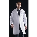 Medline Unisex Knee Length Lab Coats, Navy, Large