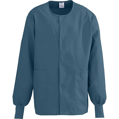 ComfortEase™ Unisex Two-pockets Warm-up Scrub Jackets, Caribbean, Small