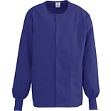 ComfortEase™ Unisex Two-pockets Warm-up Scrub Jackets, Rich Purple, Large