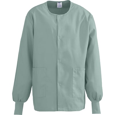 ComfortEase™ Unisex Two-pockets Warm-up Scrub Jackets, Seaspray, 4XL