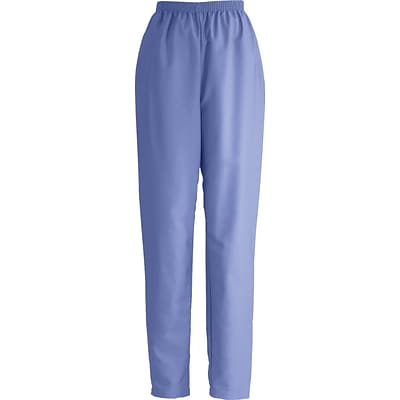 ComfortEase™ Ladies Elastic Scrub Pants, Ceil Blue, XL, Regular Length