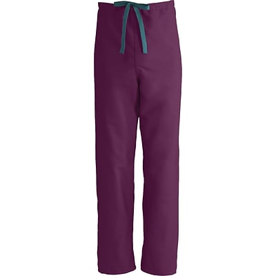 ComfortEase™ Unisex Reversible Drawstring Scrub Pants, Wine, MDL-CC, Medium, Reg Length