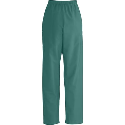 ComfortEase™ Unisex Elastic Cargo Scrub Pants, Evergreen, Medium, Long Length
