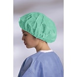 Boundary® Bouffant Caps; Green, Medium, 500/Case