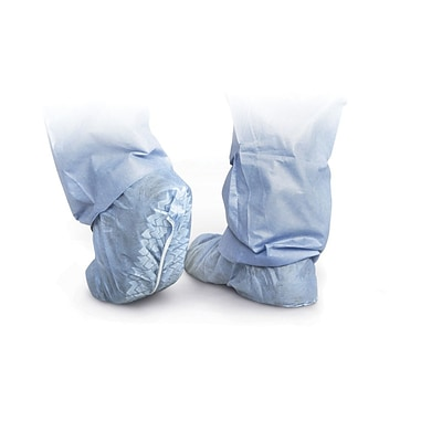 Medline Non-skid Shoe Covers, Blue, 100/Box