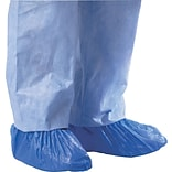 Medline Polyethylene Shoe Covers, Blue Color, 1000/Pack