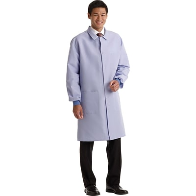 ResiStat® Mens Full Length Protective Lab Coats, Light Blue, XL