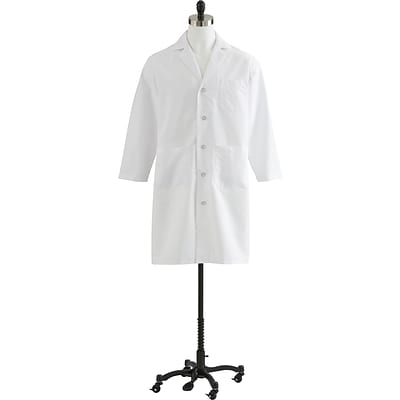 Medline Mens Full Length Lab Coats, White, 34 Size