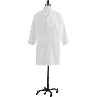 Medline Mens Heavyweight Twill Full Length Lab Coats, White, 30 Size