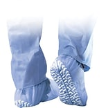 Medline Non-skid Spunbond Shoe Covers, Blue, 100/Pack