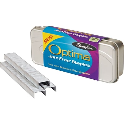 Swingline® Optima™ Premium Staples, 1/4 Leg Length, 3,750 Per Box