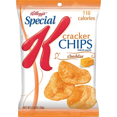 Kelloggs® Special K® Cracker Chips, Cheddar, 6 Bags/Box