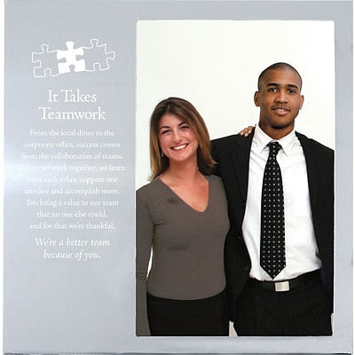 Baudville® Silver Photo Frame, It Takes Teamwork
