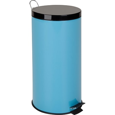 Honey Can Do 7.9 gal. Plastic Step Trash Can; Blue