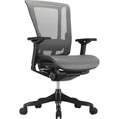 nefil Elite Smart Motion Mesh Managers Chair, Adjustable Arms, Gray