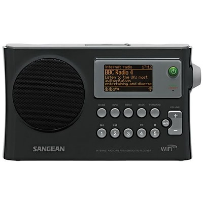 Sangean WFR28 Black WiFi Radio w/ Internet Radio/Network Music Player/USB/FM RDS Digital Receiver