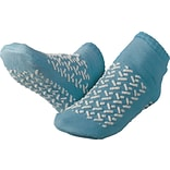 Medline Double-tread Slippers, Blue, Large