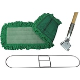 ODell® Microfiber Dry Dust Mop Pad, 48 x 5, Green