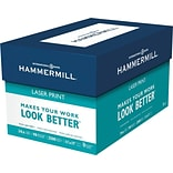 Hammermill® Laser Print Office Paper, LEDGER-Size, 98/110+ US/Euro Brightness, 24 lb., 11H x 17W,