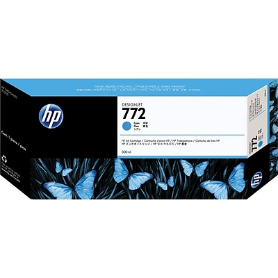HP 772 Cyan Ink Cartridge, CN636A, Extra High Yield
