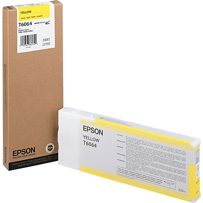 Epson 606 200ml Yellow UltraChrome Ink Cartridge (T606400); High Yield