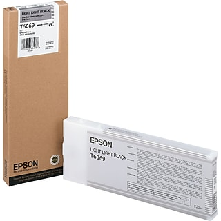 Epson 606 220ml Light Light Black UltraChrome Ink Cartridge (T606900); High Yield