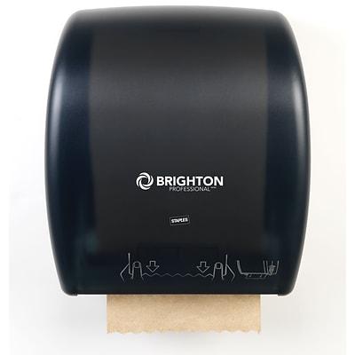 Brighton Professional™ Mechanical Auto Cut Paper Towel Dispenser; Black