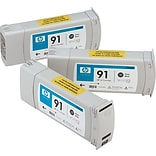 HP 91 (C9481A) Photo Black (C9465A) Inkjet Cartridges Multi-pack (3 cart per pack)