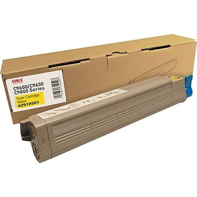 OKI Yellow Toner Cartridge (42918981), High Yield