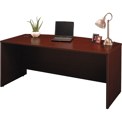 Bush Business Westfield 72W Bow Front Desk Shell, Cherry Mahogany