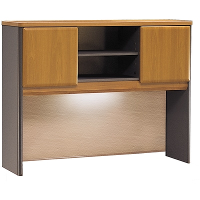 Bush Business Cubix 48W Hutch, Natural Cherry/Slate