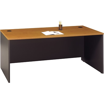 Bush® Corsa Collection in Natural Cherry Finish, 72 Managers Desk, Ready to Assemble