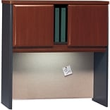 Bush Cubix Dark Cherry/Galaxy Finish 36 Hutch