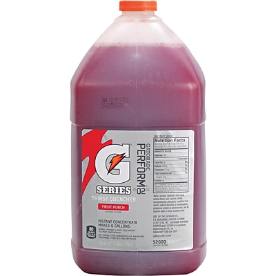 Gatorade® 6 gal Yield Liquid Concentrate Energy Drink, 1 gal Jug, Fruit Punch