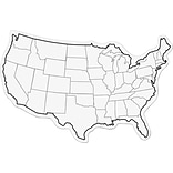 ChenilleKraft 2-Sided USA Map Whiteboard