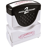Accu-Stamp2® One-Color Pre-Inked Shutter Message Stamp, POSTED, 1/2 x 1-5/8 Impression, Red Ink (0