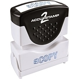 Accustamp2 Pre-Inked Shutter Stamp with Microban®, Blue, Each (035581)