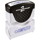 Accustamp2 Pre-Inked Shutter Stamp with Microban®, Blue, Each (035582)