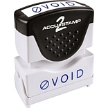 Accu-Stamp2® One-Color Pre-Inked Shutter Message Stamp, VOID, 1/2 x 1-5/8 Impression, Blue Ink (03